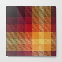 Rainbow Plaid 14 Metal Print