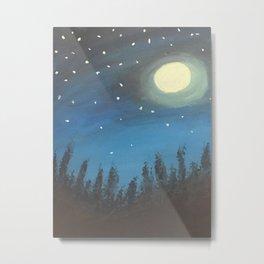 Night Sky Original Acrylic on Canvas Painting Metal Print