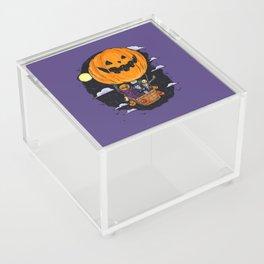 Pumpkin Hot Air Balloon Acrylic Box