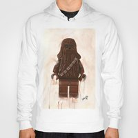 chewbacca Hoodies featuring Lego Chewbacca by Toys 'R' Art