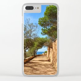 Mediterranean walkway Clear iPhone Case