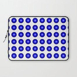 Bullseye -- Blue Laptop Sleeve
