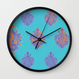 Shah-Abbasi Flower (Blue) Wall Clock