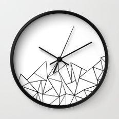 Ab Peaks White Wall Clock