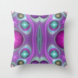 """Purple Lightscape"" Fractal Flame Art Throw Pillow"