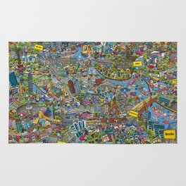 Illustrated map of Berlin Rug