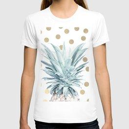 Pineapple crown - gold confetti T-shirt