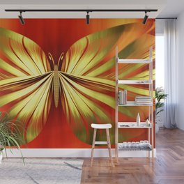Butterfly gold Wall Mural