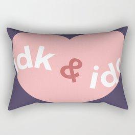 idk & idc Rectangular Pillow