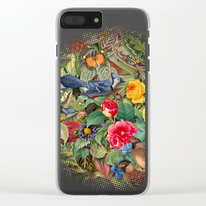Birds Insects Plants Clear iPhone Case