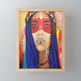 Tribal Lady Framed Mini Art Print