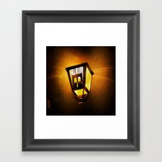 Brooklyn Bridge Lantern Framed Art Print