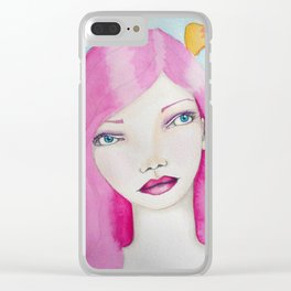 Bella SASS Girl - Pink - SASS = STRONG and SUPER SMART Clear iPhone Case