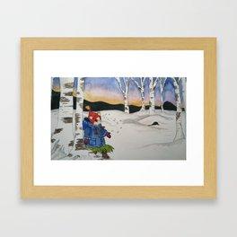 Ginger's Winterscape Framed Art Print