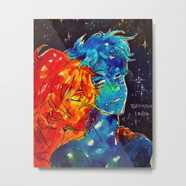 Fire and Water Kiss. Metal Print