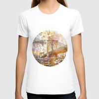 brooklyn bridge T-shirts featuring Brooklyn Bridge by LebensART