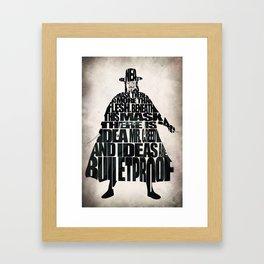 V 4 Vendetta Framed Art Print