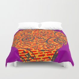 Raspberry Duvet Cover