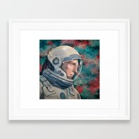 interstellar Framed Art Prints featuring Interstellar by Hector Trunnec