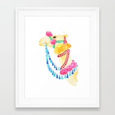 Marrakesh Camel Framed Art Print