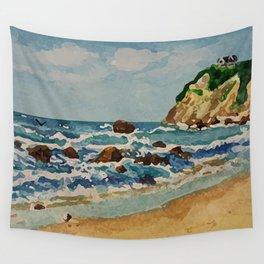 Block Island Beach Scene Wall Tapestry