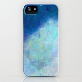 Distant Mountain- - 遠望 series - oil-paint iPhone Case