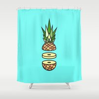 pineapple Shower Curtains featuring Pineapple by Jan Luzar