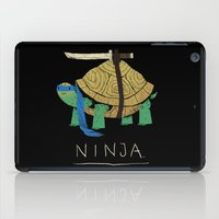 ninja turtle iPad Cases featuring ninja - blue by Louis Roskosch