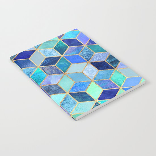 Blue Cubes Notebook