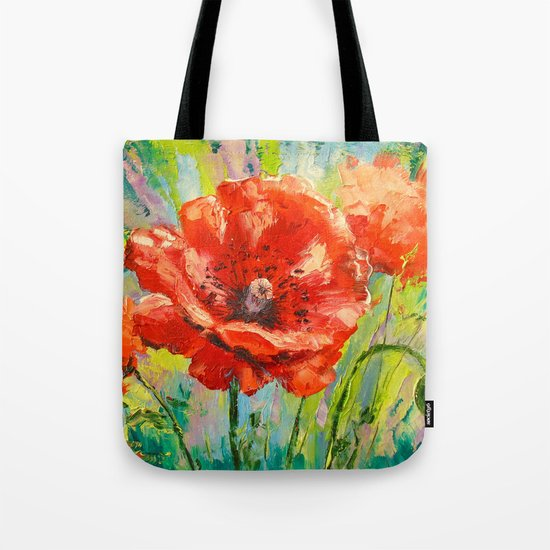 Blooming poppy Tote Bag