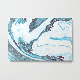 marble_no.1 Metal Print
