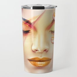 Beautiful Woman In The Desert Collage Travel Mug