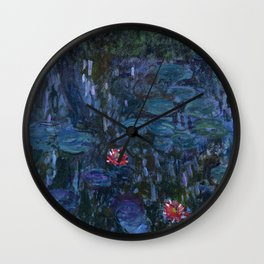 Claude Money's Nympheas Reflets de Saule Wall Clock