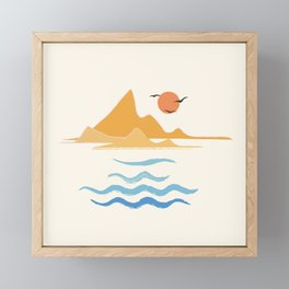 Minimalistic Summer III Framed Mini Art Print