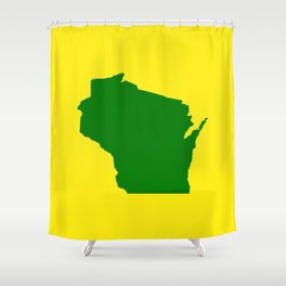 Wisconsin Football Shower Curtain