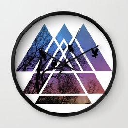 Night Wisdom - Sacred Geometry Triangels Wall Clock