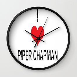 I Heart Piper Chapman Wall Clock
