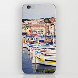 Boats in Cassis Harbor iPhone Skin