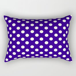 Polka Dot Party in Blue and White Rectangular Pillow