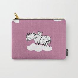 Flying Rhinoceros by Amanda Jones Carry-All Pouch