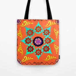 Talavera Tile Orange Tote Bag