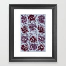 Dozen Roses - Purple Framed Art Print