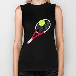 Tennis racket and tennis ball Biker Tank