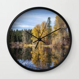 Autumn Makes an Appearance at Fish Lake Wall Clock