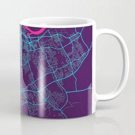 Middlesbrough Neon City Map, Middlesbrough Minimalist City Map Art Print Coffee Mug