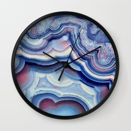 Agate lace Wall Clock