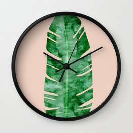 Composition tropical leaves VII Wall Clock