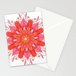 warm colors mandala art Stationery Cards