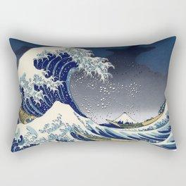 Great Wave: Kanagawa Night Rectangular Pillow