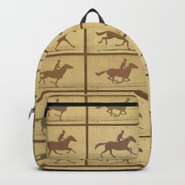 Time Lapse Motion Study Horse muted Backpack